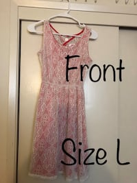 BRAND NEW Women's pink and white sleeveless dress Campbell, 95008