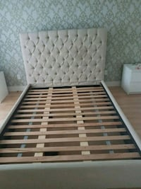 white and brown wooden bed frame Terrebonne, J6X 4E5