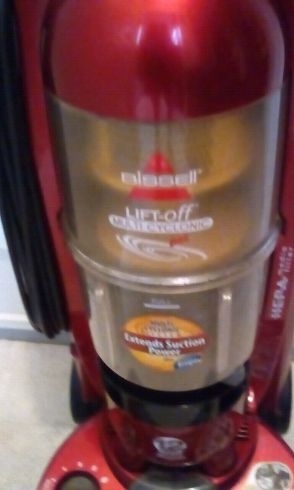Bissell vacuum  red works well price negotiable