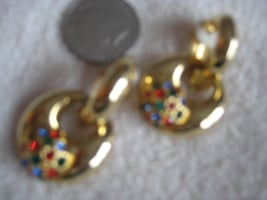 Clip on custom earings.