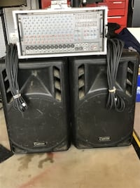 Carvin complete RX 1200 PA head and speakers London