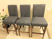 four brown wooden framed gray padded chairs Stone Ridge, 20105