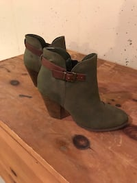 Green Block Ankle Booties by Restricted Bow, 03304