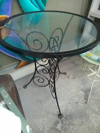 Fantastic vintage wrought iron patio table
