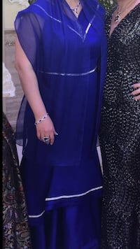 This dress was worn once at my daughters wedding good condition. I bought this dress for 700 giving it for 650. Size 16