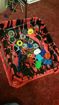 Beyblades and ring 378 mi