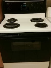 white and black electric coil range oven Montréal, H1Z 3M6