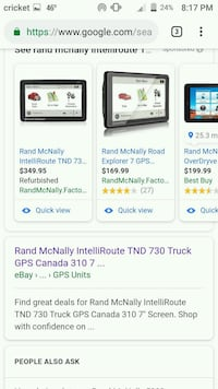 Rand Mcnally Intelliroute TND 730 canada 310 North Little Rock, 72117
