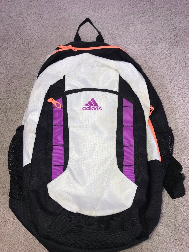 f35669be3dcc white and black Adidas backpack