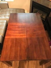 Dining table and chairs wood North Vancouver, V7H 2T5