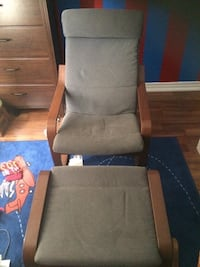 IKEA POANG chair and footstool Vaughan, L4L 9H6