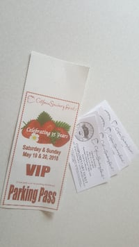 two white and red tickets Camarillo