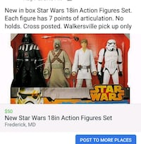 New in Box Star Wars 18in Action Figures Set Frederick, 21701