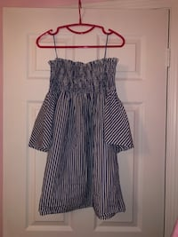 Zara blue and white striped dress Markham, L3P 1W2