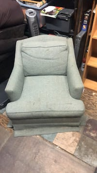 gray and white floral sofa chair Turlock, 95380