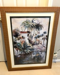 Beautifully framed glassed tropical artwork from Ethan Allan Livonia, 48152