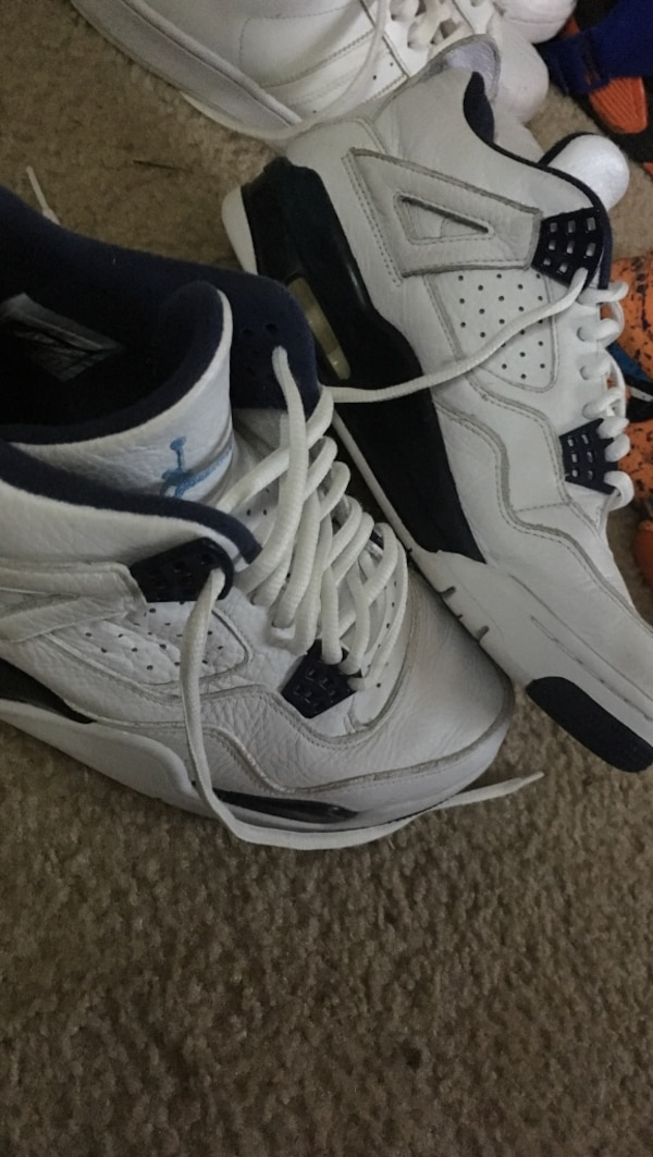 78b1df2f8f2e Used pair of white-and-black air jordan 4 s for sale in Jackson - letgo