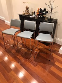 Casalife Grey Leather Bar Stools x3 Toronto, M4C 2P5
