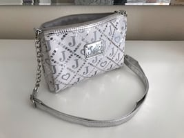 Black-Silver Sequin Justice Cross Body Purse  For girl. Like New