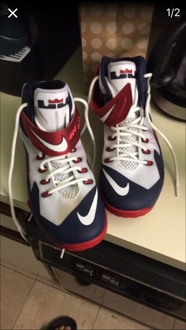 29b93b051870b3 Used LeBron Zoom soldier 8s red white and blue size 11 for sale in ...