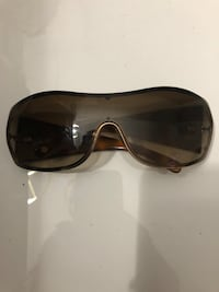 Versace authentic brown/ leopard shield sunglasses w crystals