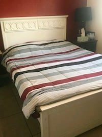 white, gray, and red striped bed comforter Indio, 92201