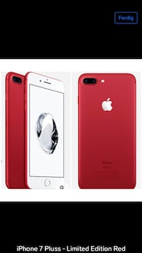 iPhone 7 Pluss - Red Limited Edition Skedsmokorset, 2020