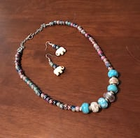 beaded white and blue necklace San Antonio, 78232