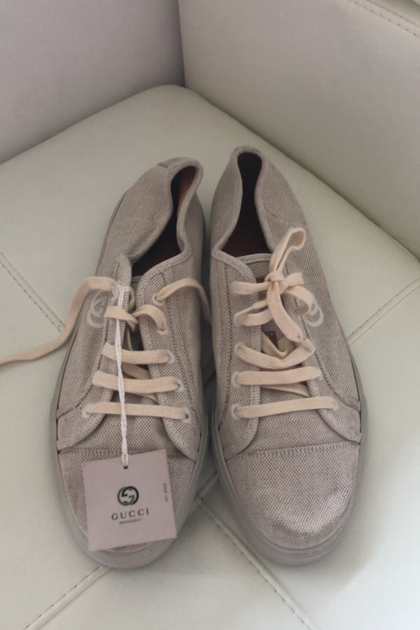 Gucci beige sneakers  biodegradable new never worn  010d4414-0501-4a2a-9bfa-dcfb7c5c9bb0