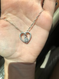 Sterling silver heart necklace  Malabar, 32950