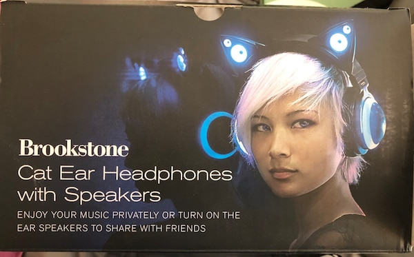 Brookstone Cat Ear Headphones w/ Speakers (wired) 3 available