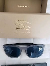 Burberry Be4244 Square Grey Translucent Blue Mirrored Sunglasses 4244