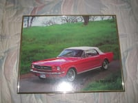 Vintage 1965 Mustang Framed Photo Picture Print