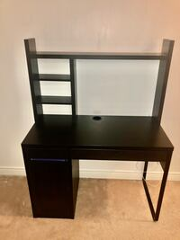 IKEA MICKE desk black-brown with top shelves. Toronto