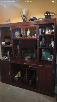 brown wooden cabinet with shelf Baton Rouge, 70816