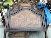 Heavy duty wood head and foot board, and wood rails Bakersfield