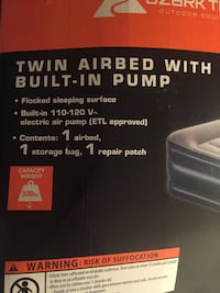 OZARK Twin Air Bed with Built-In Pump Toronto