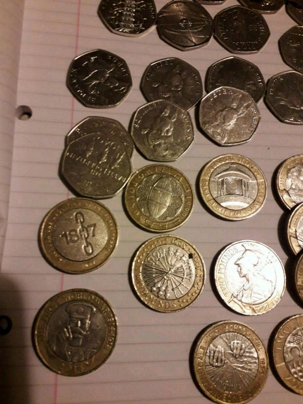 round silver and gold coins