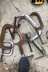 8 inch and 4 inch clamps for sale $40 for all  [TL_HIDDEN]  Sherwood Park, T8A 1G4
