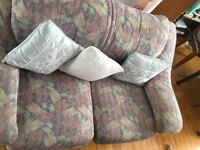 white and green floral fabric 3-seat sofa Paremoremo, 0632