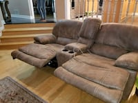 gray suede recliner sofa set Toronto, M2J 4T4