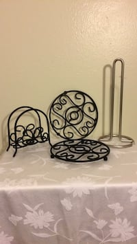 Napkin holder; 2 Trivets & Kitchen Towel Holder  Baton Rouge, 70816
