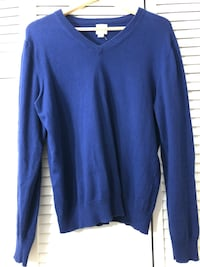 Men's Lands End Blue v-neck sweater - medium  Toronto, M2J