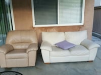 white leather love seat Lake Elsinore, 92532
