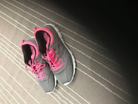 pair of gray-and-pink Nike running shoes Bradford West Gwillimbury, L3Z 0B4