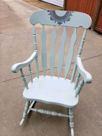 white wooden rocking chair with white wooden table Edmonton, T5A 3T3