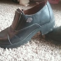 pair of black Harley-Davidson leather boots