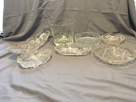 Antique crystal containers