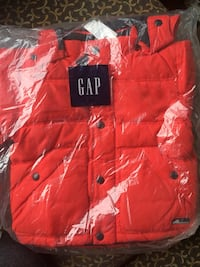 Red GAP down coat. 12-18 months. Brand new