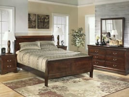 Ashley Alisdair Brown Sleigh 4 piece Bedroom Set
